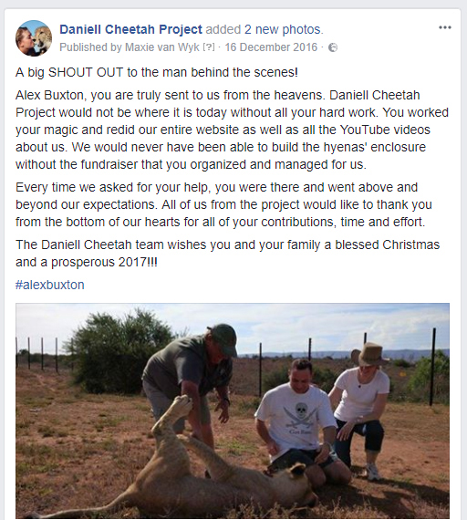Daniell Cheetah Project