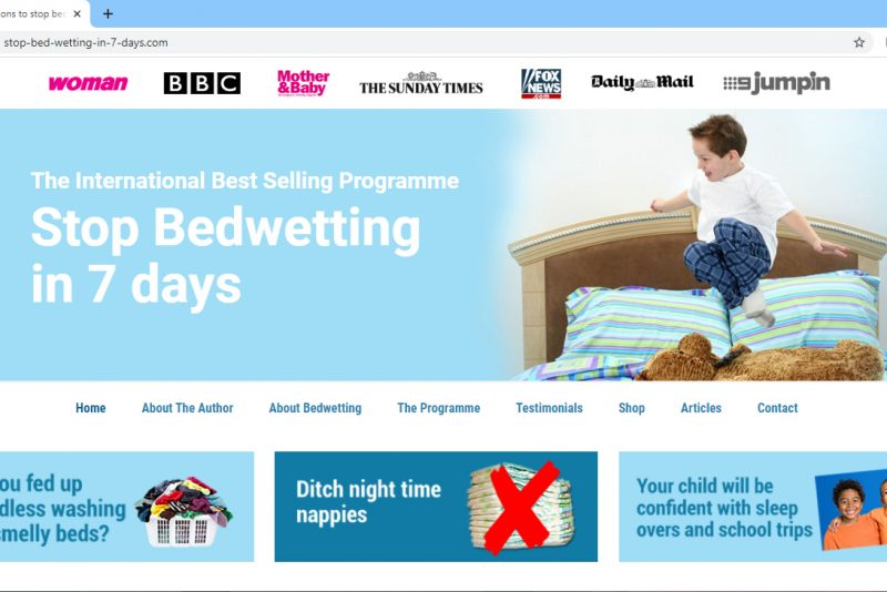 Stop Bedwetting in 7 Days Screenshot