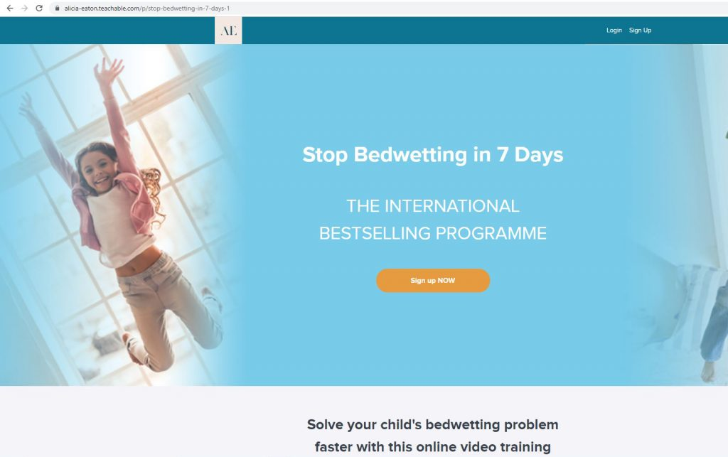 Stop Bedwetting Course